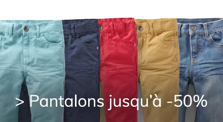 Pantalons JOURS OH -50% 18/5 23/5